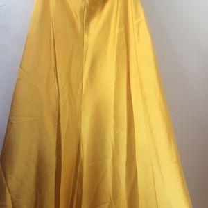 David's Bridal Dresses - Gold sequin formal dress from David Bridal